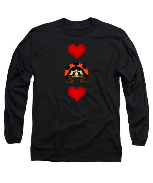 Love Bug Vertical Long Sleeve T-Shirt by Sarah Greenwell