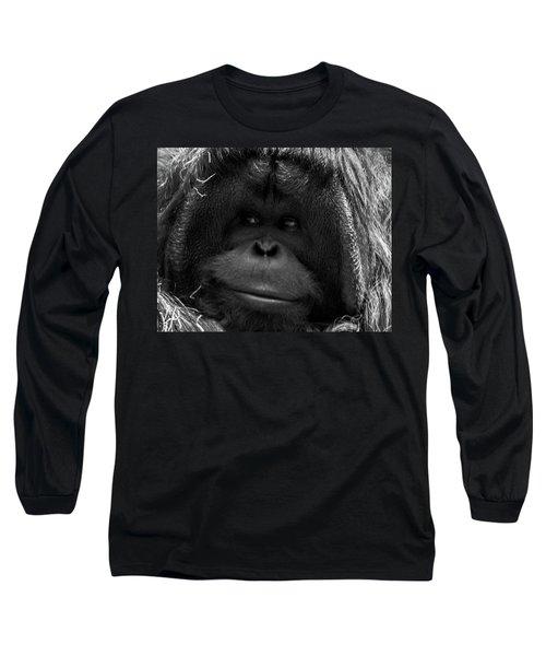 Orangutan Long Sleeve T-Shirt by Martin Newman