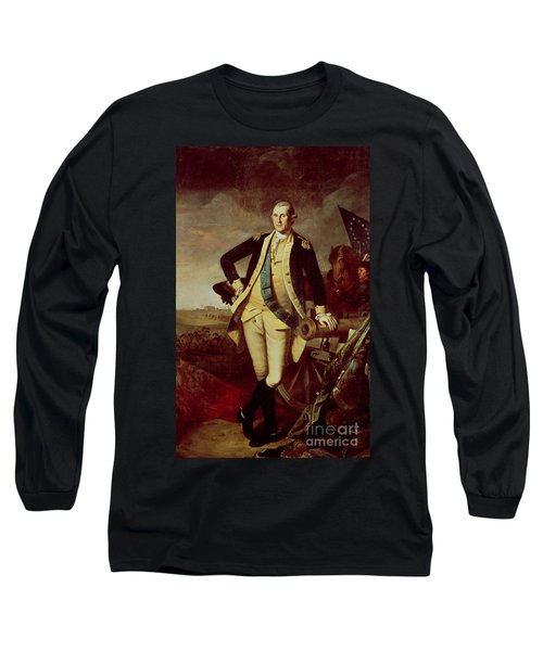 Portrait Of George Washington Long Sleeve T-Shirt by Charles Willson Peale