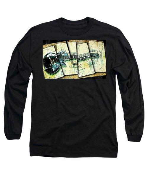 1955 Les Paul Custom Black Beauty V2 Long Sleeve T-Shirt by Gary Bodnar