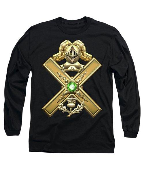 29th Degree Mason - Scottish Knight Of Saint Andrew Masonic Jewel  Long Sleeve T-Shirt by Serge Averbukh