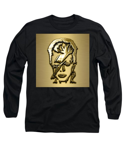 David Bowie Collection Long Sleeve T-Shirt by Marvin Blaine