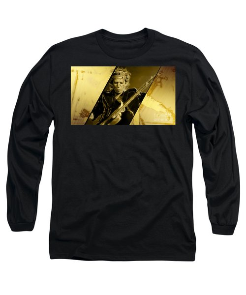 Keith Richards Collection Long Sleeve T-Shirt by Marvin Blaine