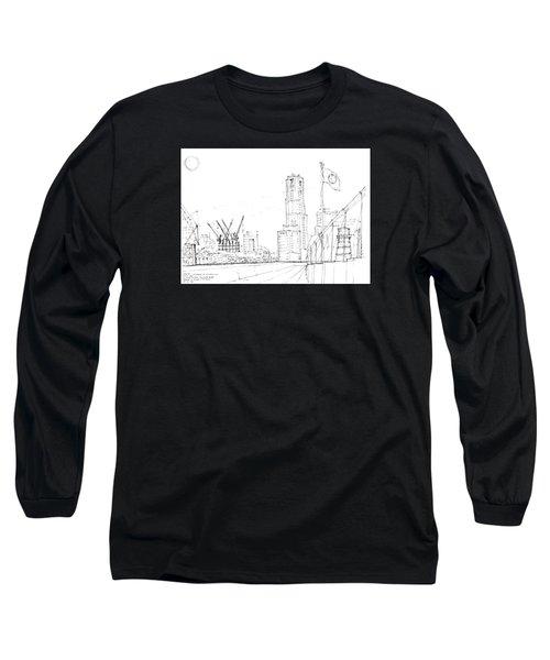 5.2.japan-1-tokyo-skyline Long Sleeve T-Shirt by Charlie Szoradi