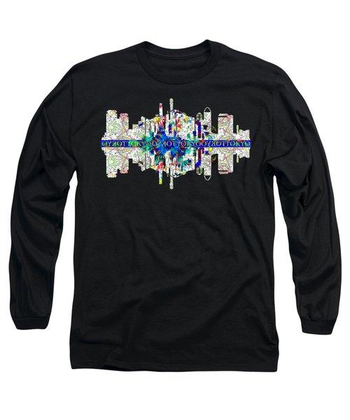 Tokyo Skyline Long Sleeve T-Shirt by John Groves