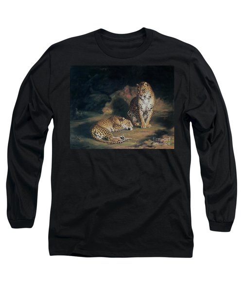 A Pair Of Leopards Long Sleeve T-Shirt by William Huggins
