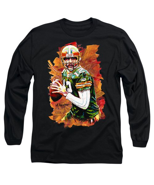 Aaron Rodgers Long Sleeve T-Shirt by Maria Arango