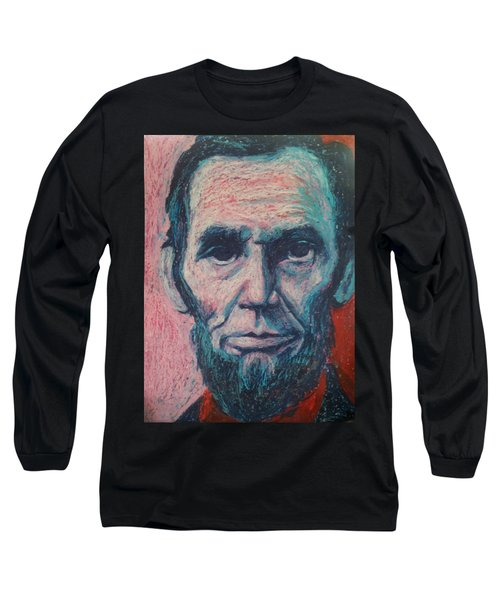 Abraham Lincoln Long Sleeve T-Shirt by Regina WARRINER