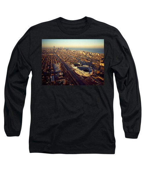 Aerial View Of A City, Old Comiskey Long Sleeve T-Shirt by Panoramic Images