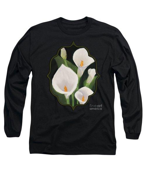 Calla Lilies Long Sleeve T-Shirt by Anastasiya Malakhova