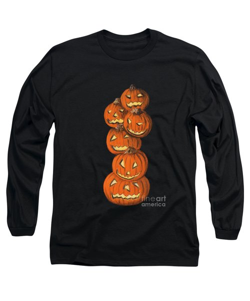 Jack-o-lantern Long Sleeve T-Shirt by Anastasiya Malakhova