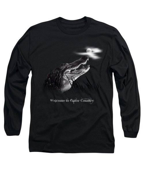 Gator Growl Long Sleeve T-Shirt by Mark Andrew Thomas