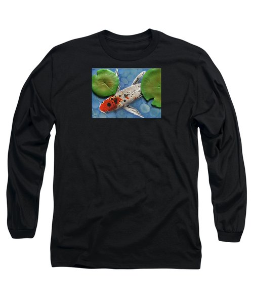Hidden Koi Long Sleeve T-Shirt by Rhi Johnson