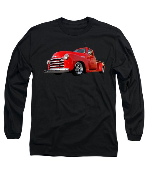 1952 Chevrolet Truck At The Diner Long Sleeve T-Shirt by Gill Billington