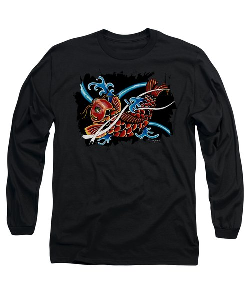 Asian Koi Long Sleeve T-Shirt by Maria Arango