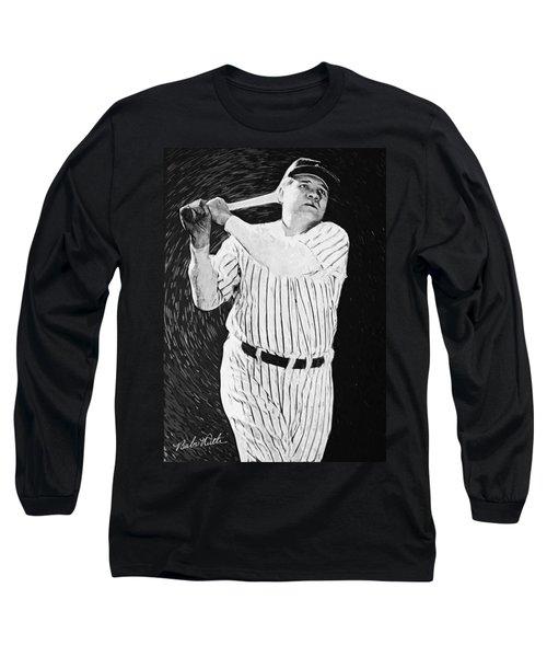 Babe Ruth Long Sleeve T-Shirt by Taylan Soyturk