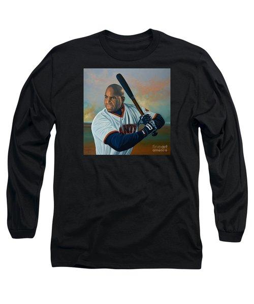 Barry Bonds Long Sleeve T-Shirt by Paul Meijering