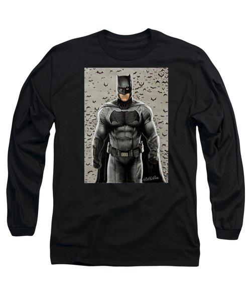Batman Ben Affleck Long Sleeve T-Shirt by David Dias