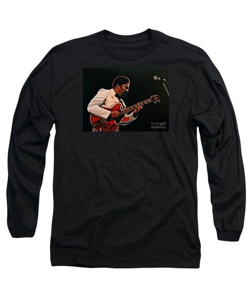 B. B. King Long Sleeve T-Shirt by Paul Meijering
