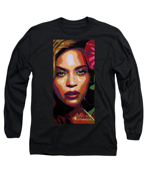 Beyonce Long Sleeve T-Shirt by Maria Arango