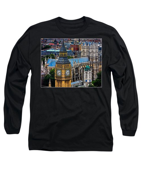 Big Ben And Westminster Abbey Long Sleeve T-Shirt by Chris Lord