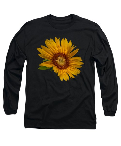 Big Sunflower Long Sleeve T-Shirt by Debra and Dave Vanderlaan