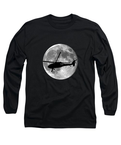 Black Hawk Moon .png Long Sleeve T-Shirt by Al Powell Photography USA