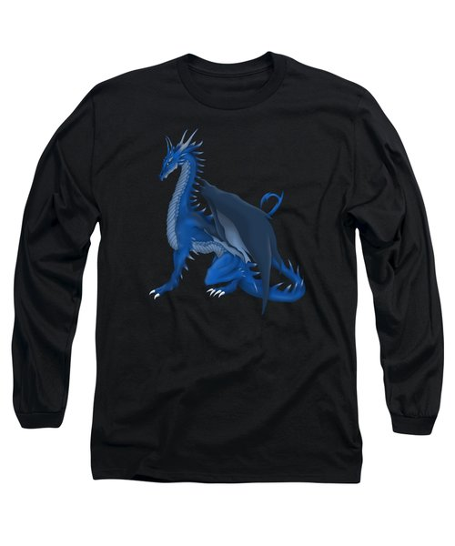 Blue Dragon Long Sleeve T-Shirt by Gaynore Craps