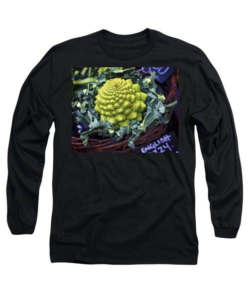 Brassica Oleracea Long Sleeve T-Shirt by Heather Applegate