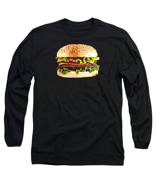 Burger Sndwich Hamburger Long Sleeve T-Shirt by T Shirts R Us -