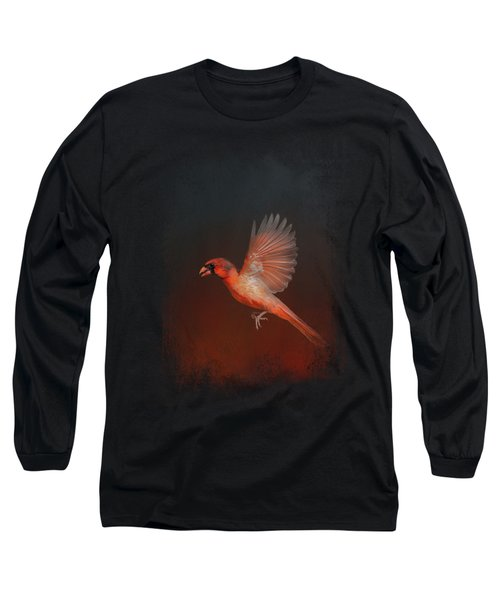 Cardinal 1 - I Wish I Could Fly Series Long Sleeve T-Shirt by Jai Johnson