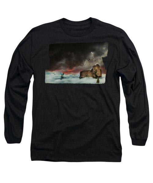 Castle In The Clouds Long Sleeve T-Shirt by Terry Fleckney