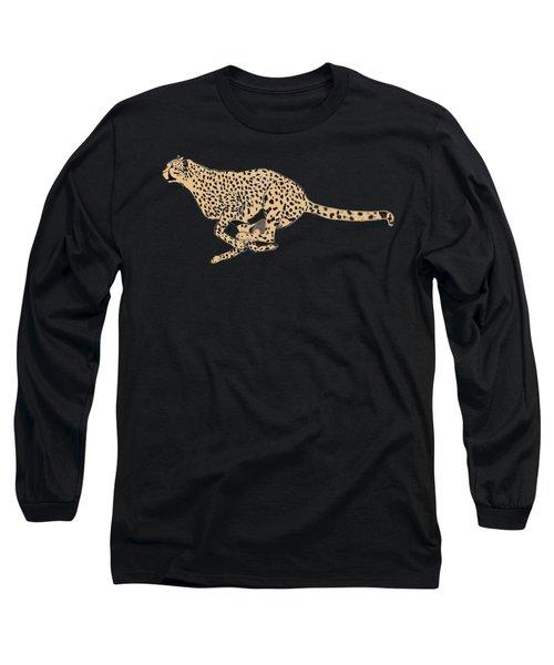 Cheetah Flash Long Sleeve T-Shirt by Teresa  Peterson