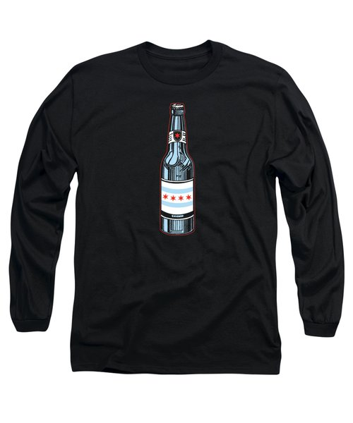 Chicago Beer Long Sleeve T-Shirt by Mike Lopez