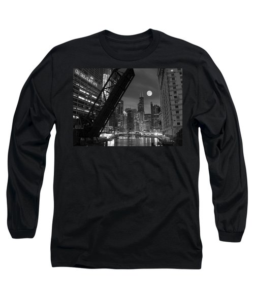 Chicago Pride Of Illinois Long Sleeve T-Shirt by Frozen in Time Fine Art Photography