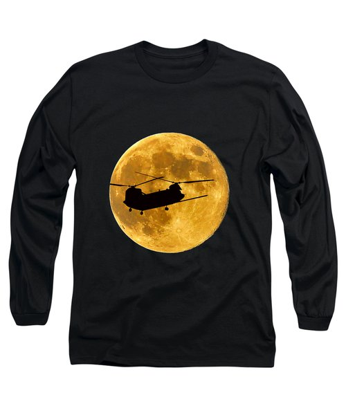 Chinook Moon Color .png Long Sleeve T-Shirt by Al Powell Photography USA