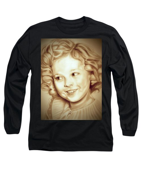 Classic Shirley Temple Long Sleeve T-Shirt by Fred Larucci