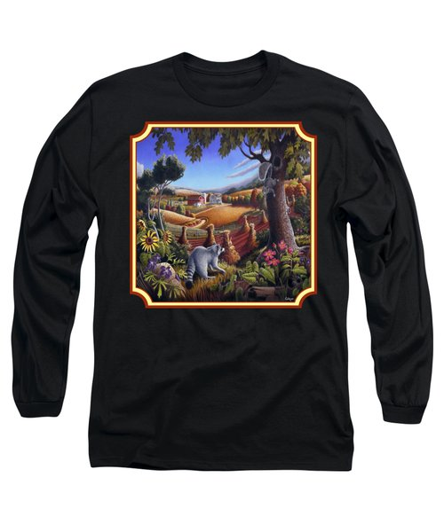 Coon Gap Holler Country Landscape - Square Format Long Sleeve T-Shirt by Walt Curlee