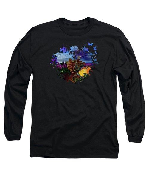 Dahlia Field Long Sleeve T-Shirt by Thom Zehrfeld