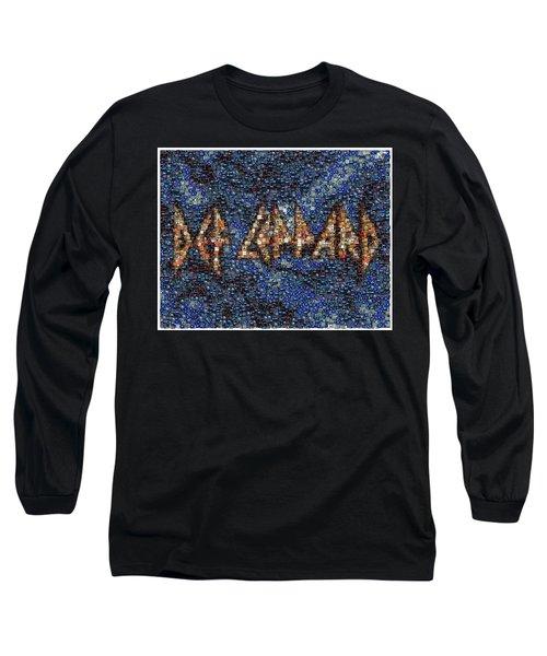 Def Leppard Albums Mosaic Long Sleeve T-Shirt by Paul Van Scott