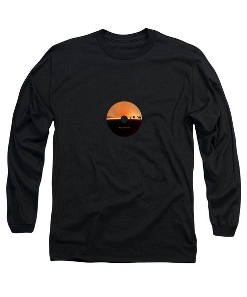 Desert Mirage Long Sleeve T-Shirt by Valerie Anne Kelly