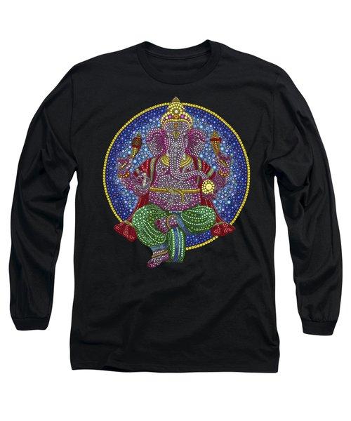 Digital Ganesha Long Sleeve T-Shirt by Tim Gainey