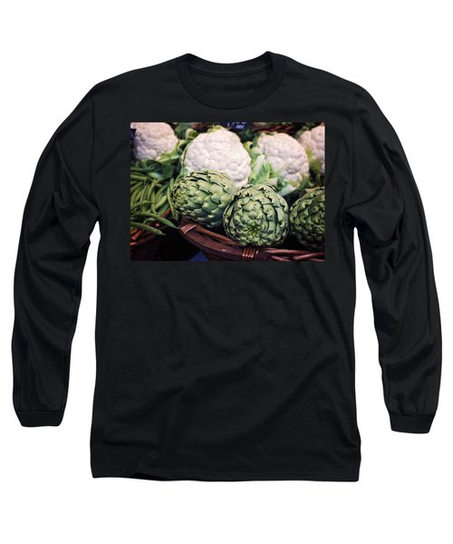 Eat Your Greens Long Sleeve T-Shirt by Heather Applegate