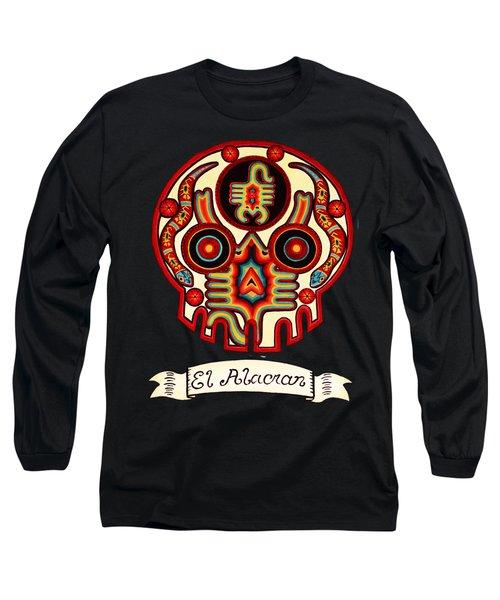 El Alacran - The Scorpion Long Sleeve T-Shirt by Mix Luera