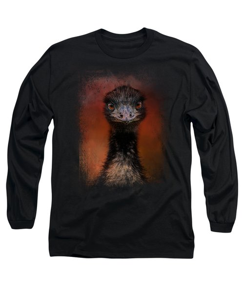 Emu Stare Long Sleeve T-Shirt by Jai Johnson