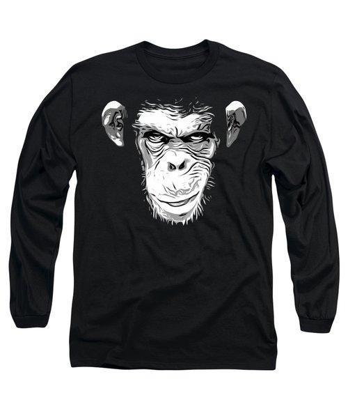 Evil Monkey Long Sleeve T-Shirt by Nicklas Gustafsson