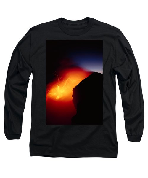 Explosion At Twilight Long Sleeve T-Shirt by William Waterfall - Printscapes