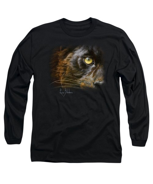 Eye Of The Panther Long Sleeve T-Shirt by Lucie Bilodeau