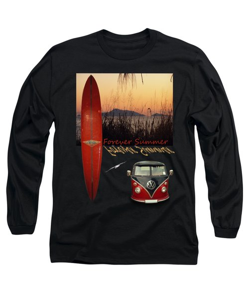 Forever Summer 1 Long Sleeve T-Shirt by Linda Lees