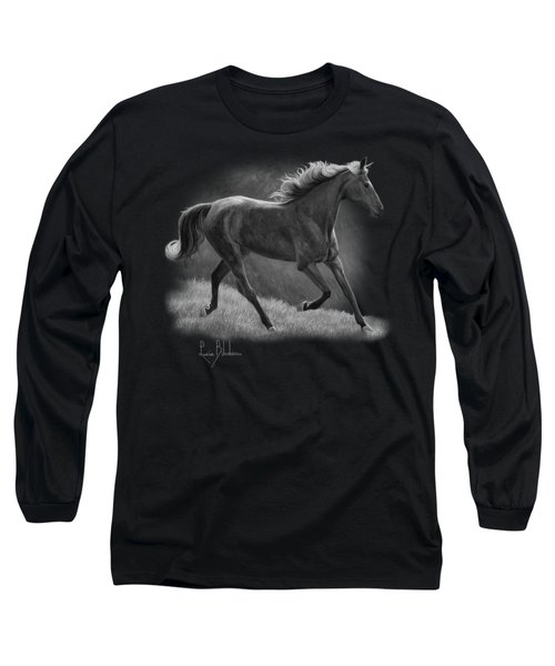 Free - Black And White Long Sleeve T-Shirt by Lucie Bilodeau